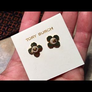 Tory Burch Gold-Tone Babylon Stud Floral Earrings